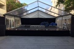 Clear Cover Modular Stage - Festival Hire