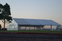 20x20m Clear Walls Tent - Festival Hire