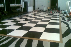 Black and White Dance Floor - Festival Hire