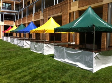 Multi-Colored Fete Stalls - Festival Hire