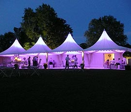 Pink colored stalls and fetes - Festival Hire