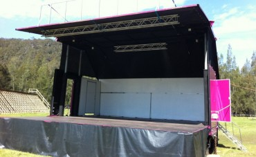 7x6 Metres Mobile Stage - Festival Hire