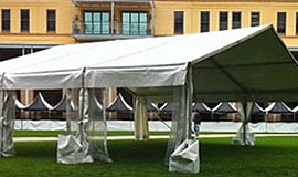 10m Tents Wide Clearspan - Festival Hire