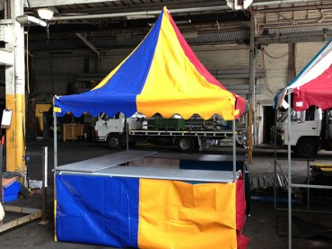 Premium Coloured Fete Stall - Festival Hire