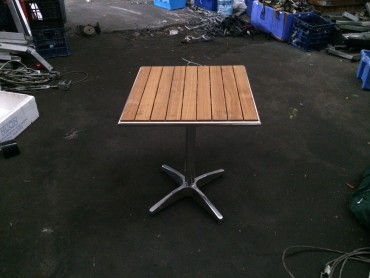 Wooden Ash Table - Festival Hire